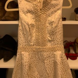 Rare find!  Lilly Pulitzer Franci dress in gold.